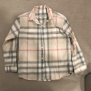 Burberry long sleeve button down top size 6